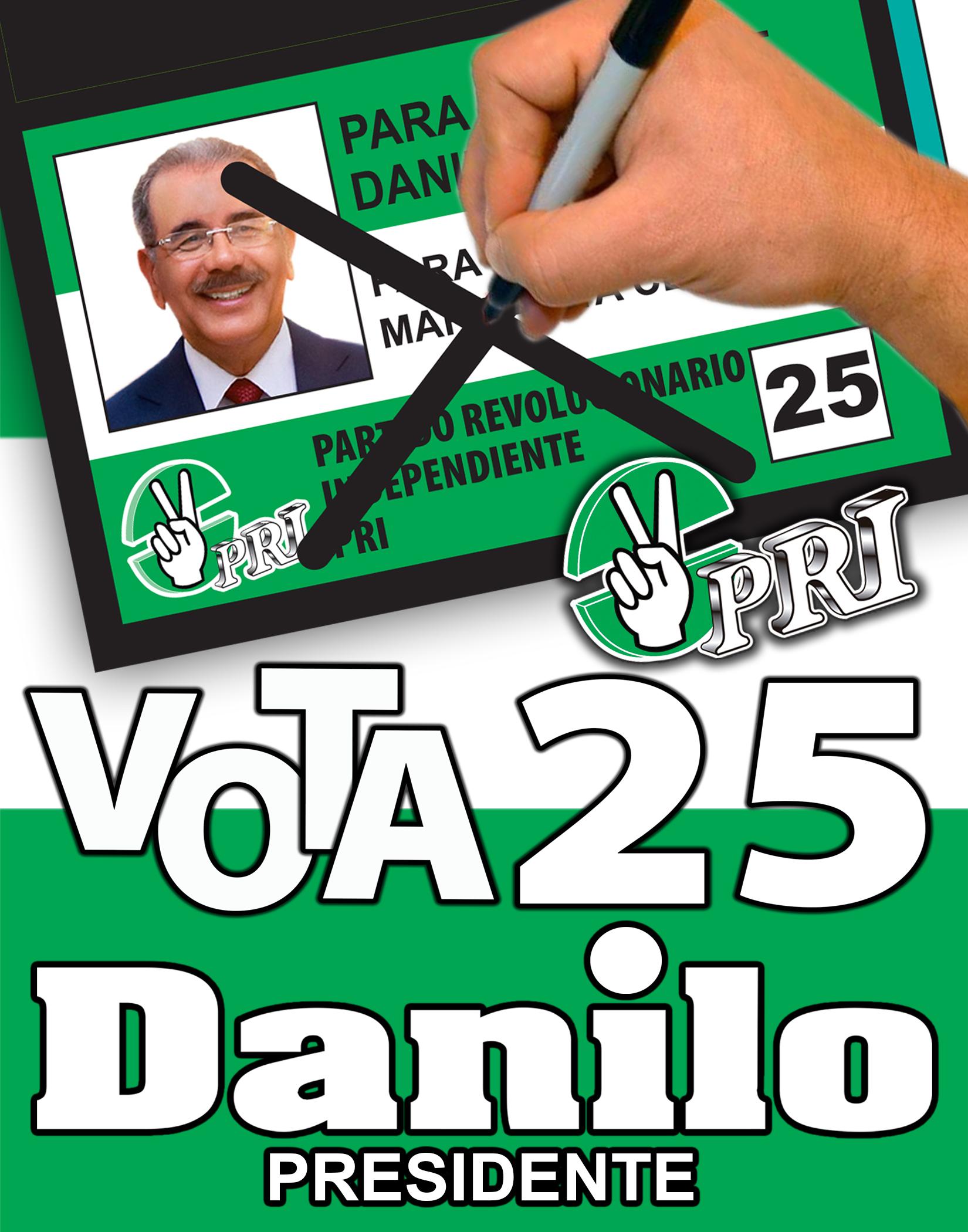 VOTA 25 ASI POR EL  PRI
