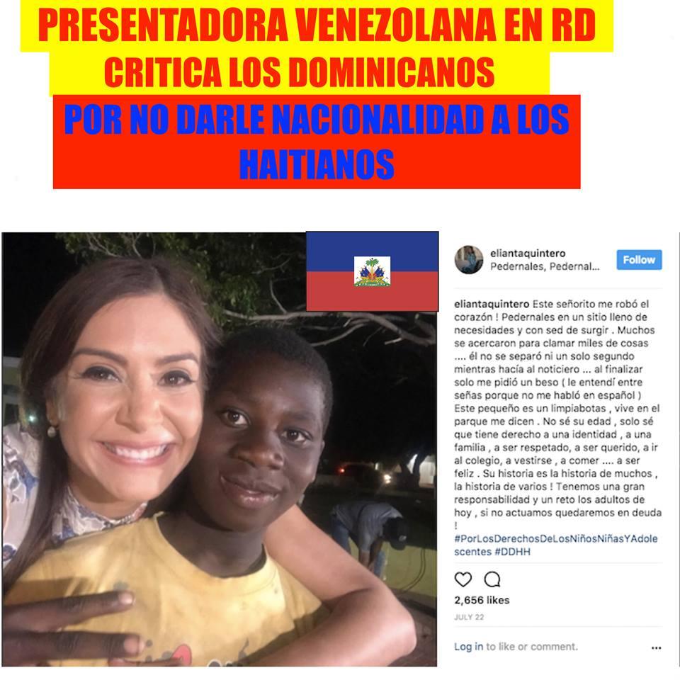 Presentado venezolana en RD arremete contra autoridades por no dar papeles a haitianos ilegales